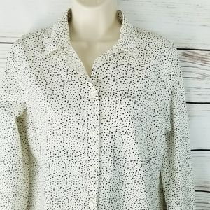 J. Crew | ☆Star Print☆ Buttoned Top